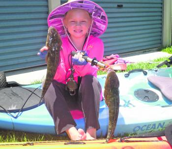 Ruby had a great morning out and a caught couple flatties for a feed.