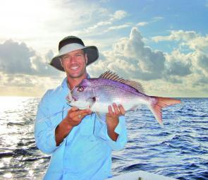 Dale Graham keeps jigging up snapper off Sawtell.