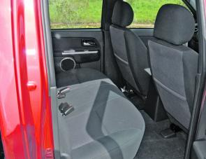 Quality fabric, plenty of support and leg depth are features of the D-Max Crew Cab's rear seat.