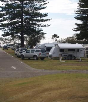 There are ample powered sites for caravans and motor homes.