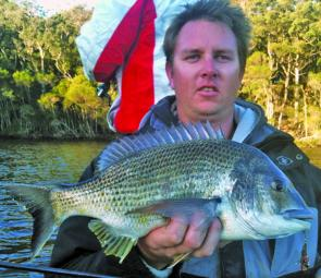 Now that is a bream! Scott Watkins with his personal best so far.