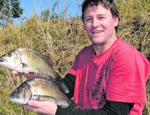 Owen Pierce one of the few anglers to have lure success in the Tambo recently.