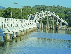 Bridges and jetties always attract fish and during the Summer bream, flathead, whiting and jewfish are on the cards.