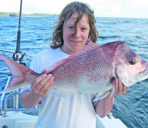 This quality snapper was caught on a charter with the crew from Fishing Offshore Noosa.