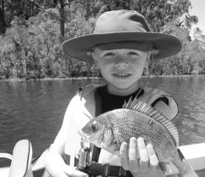 6-year-old Tom Cox caught this bream at Lake Tyers on a soft plastic.