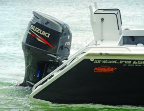 The Suzuki 175 four-stroke made effortless work of powering the Goldstar's beefy hull.
