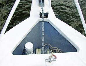 A sensibly large anchor well is a great feature of this offshore orientated craft.
