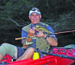 Ray Smith with a run-of-the-mill Clyde bass. Expect some great bass action this month.