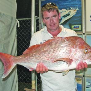 One of the many big snapper caught at the River to Reef Fishing Classic.