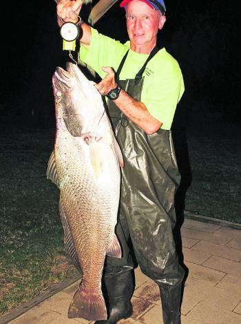 Check out this 17kg mulloway taken by Keith Stevenson north of Poyungan Rocks.