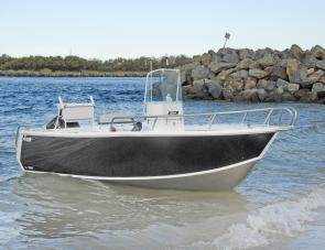 The new Stessl features clean lines and excellent performance from the Suzuki 90 on the transom.