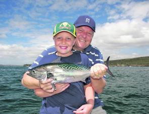 Garry Pelham and son crack the mack tuna code.