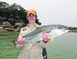 Gus Reynolds with a great Harbour king. They should become more widespread this month.