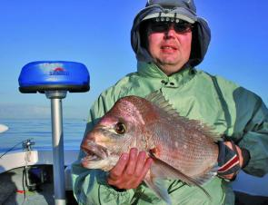 Steve Waite with a typical southern Bay snapper. Fish like this are still available for plastic and bait fishers.