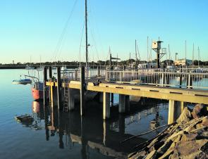 The marina at Burnett Heads makes an ideal launching point for exploring the new structure in the Burnett.