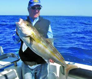 This quality amberjack swallowed a livie on the 42s recently.