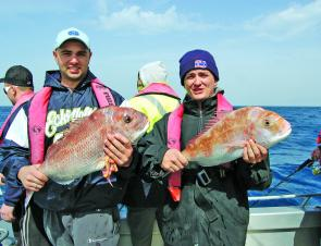 Quality snapper are available offshore in 35m of water.