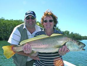 There are s still some nice school mulloway around, as Geraldine and Graham Finch found out.