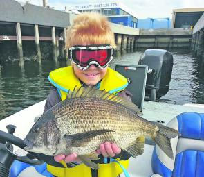Toby Causby aged-6-years and his PB bream at 37cm fork.