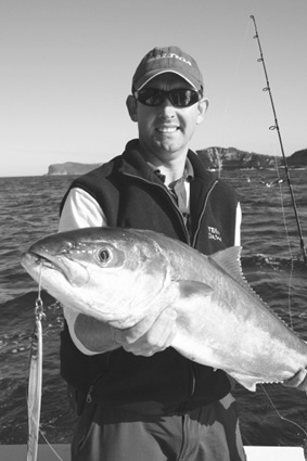 Dave Butfield with a lovely kingfish jigged up off the Central Coast.