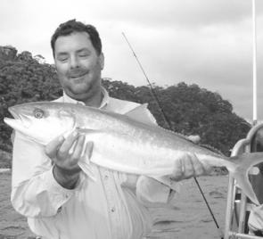 Mike released his personal best kingfish of 80cm to fight another day.