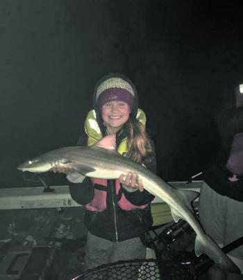 Young Emily Diment caught this nice gummy while holidaying with here family.