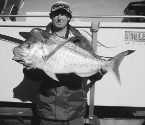 Jason Smith with a typical Broughton Island bumper – 10kg of quality snapper.