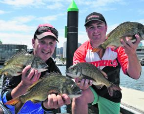 Steve Wheeler and Dan Mackrell rocketed up the Vic Bream Classic leader board with an impressive final day bag to snatch the first event for 2013 held in Melbourne.