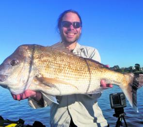 According to local kayak enthusiast, Richard Linossi, stealth is the key when hunting snapper of this calibre in shallow water.