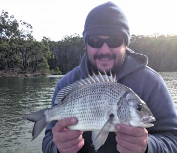 Wintry days see the bream come to life in Mallacoota.