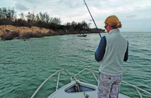 Fishing hard up against a steep bank with trees that have fallen into the water is the type of country where a presentation that is suited to wafting a lure slowly fluttering down to the strike zone is ideal. The free flow of line off a spin reel is an ad