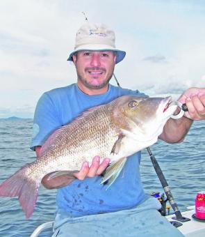 Rob James with a quality grassy caught out on Sunshine Reef.