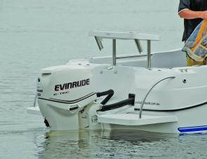 The Evinrude 90 E-Tec was an ideal power match for the Evolution 500.