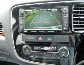 The Aspire's reversing camera was clear and its graduated scale allowed easy estimation to obstacles.