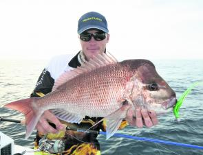 Snapper like this one caught by the author are certainties on the inshore reefs this month.