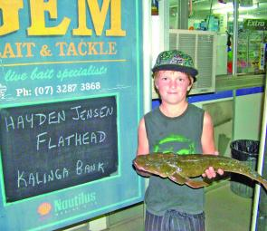 The kids are showing us how it's done, with Hayden Jensen catching a monster 1.5kg flathead.