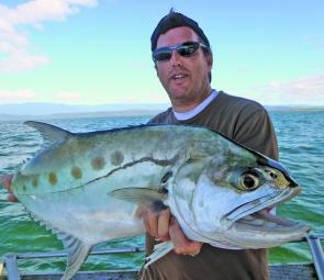 Jamie Beitzel on the Daintree Charters tapping into spectacular big queenfish action.
