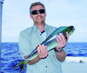 Stewart Prince with one of the first mahi mahi. This 64cm model was released.