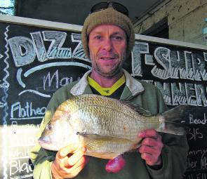 February has some great beach fishing with decent bream like this on offer.