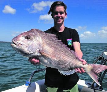 Jesse with his new PB Esso snapper.