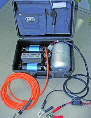 The ARB high performance compressor, portable version comes complete with a very strong carry case.