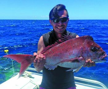 This great 4kg snapper ate a freespooled pillie.