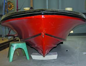 Now that is a flared bow – the Pride has a well-designed hull that will push that pesky slop out of the way.