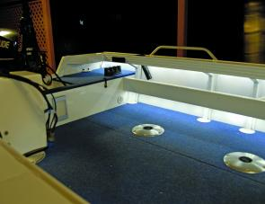 Under gunwale lighting sure makes it easy to find things in a long side pocket.