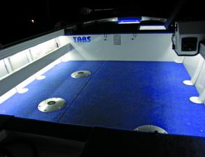 Thanks to Boatlight Fishing the entire floor area of the boat is illuminated.