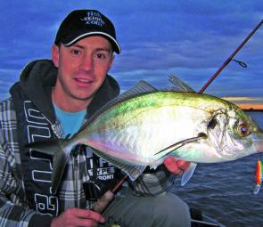 Soft plastics and hardbodied lures have produced some thumping trevally of late, particularly during the first two hours of the incoming tide.