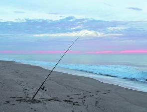 There's no better time to fish in the surf than high tide at daybreak.