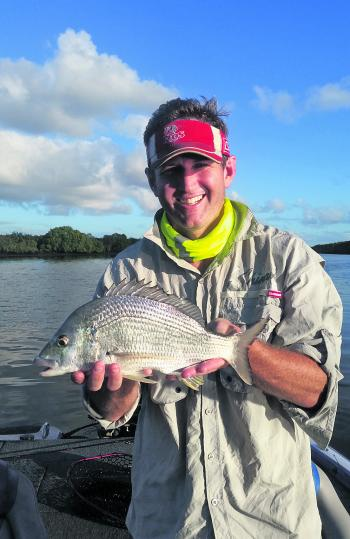 Jordan Bennie with a good summer bream.