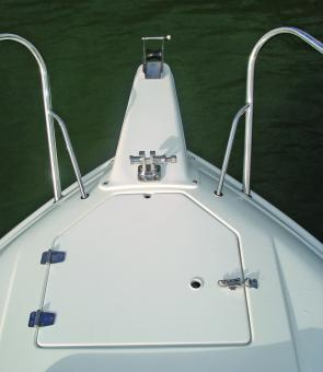 Initial positioning of the anchor on the bow roller would require getting up onto the foredeck, but once set up it can be operated from the safety of the cabin.