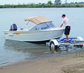 The Stacer 449 Seahawk is light enough to retrieve with little or no help and the matching Stacer trailer is a perfect match.
